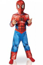 spiderman kostume - 5-6 år - Udklædning