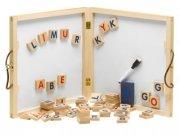 krea tavle / whiteboard med magnet bogstaver - Kreativitet