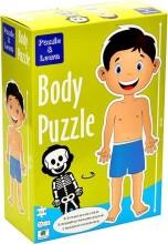 puslespil om kroppen 100 x 38 cm - dreng - Brætspil