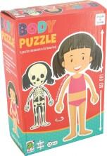 puslespil om kroppen - pige - Brætspil