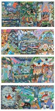 kunstkort med illustrationer af esben hanefelt kristensen - bog