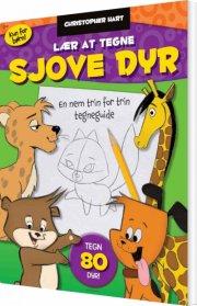 lær at tegne sjove dyr - bog