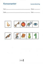læseevaluering, konsonanter á 10 stk - bog