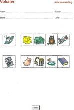 læseevaluering, vokaler á 10 stk - bog