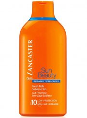 lancaster - sun beauty fresh milk face and body spf10 - 400 ml (big size) - Hudpleje