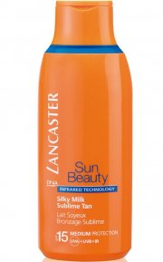 lancaster - sun beauty silky milk face & body spf15 - 175 ml - Hudpleje