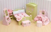 le toy van dukkehusmøbler - daisylane soveværelse - dukkehus møbler - Dukker