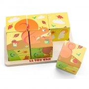 le toy van - petilou, klodspuslespil med årstider - Brætspil
