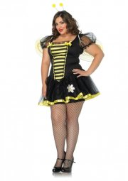leg avenue plus size kostume - bidronning - 1x-2x - Udklædning Til Voksne