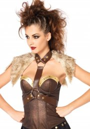 leg avenue - faux leather harness - small-medium (270405077) - Udklædning Til Voksne