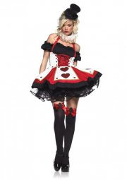 leg avenue - pretty playing card dress - medium-large (8340906012) - Udklædning Til Voksne