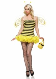 leg avenue kostume - ruffled bumble bee - x-small - Udklædning Til Voksne