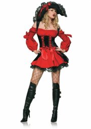 leg avenue - vixen pirate wench dress - medium (8315702012) - Udklædning Til Voksne