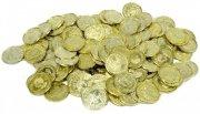 legepenge / legetøjspenge - guldmønter - Rolleleg