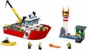 lego city 60109 - fire boat / brændvæsnets båd - Lego