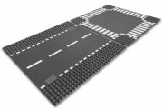 lego city 7280 - straight & crossroad plates / vejplader - Lego