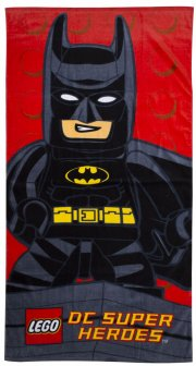 lego håndklæde - dc superheroes - kapow - 70 x 140 cm - Til Boligen