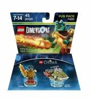 lego dimensions - fartøj og cragger fun pack - Lego