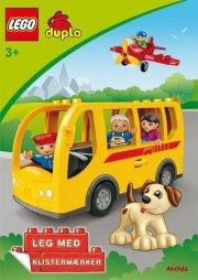 lego duplo - bussen - sjov med klistermærker  - bog