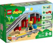 lego duplo - togbro og skinner - Lego