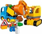 lego duplo 10812 - lastbil og gravemaskine - Lego