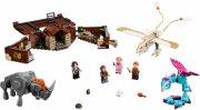 lego harry potter - newts kuffert med magiske væsner - Lego
