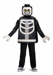 lego skelet kostume deluxeudgave - 4-6 år - Udklædning