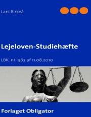 lejeloven - studiehæfte - bog