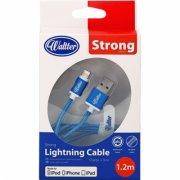 lightning kabel til iphone & ipad 1.2m - blå - Mobil Og Tilbehør