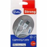 lightning kabel til iphone & ipad 1.2m - hvid - Mobil Og Tilbehør