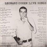 leonard cohen - live songs  - Vinyl / LP