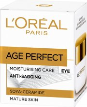 loreal øjencreme - moisturising care anti-sagging - 15 ml. - Hudpleje