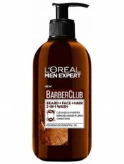 l'oréal ansigtsvask - men expert barber club beard and face wash 200 ml - Skægpleje