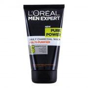 loreal pure power charcoal wash - 150 ml. - Hudpleje