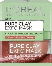 loreal - pure clay exfo mask - ansigtmaske 50 ml. - Hudpleje