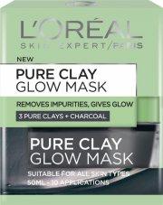 loreal - pure clay glow mask - ansigtsmaske 50 ml. - Hudpleje