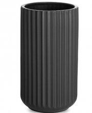 lyngby vase 20 cm mat sort - lyngby by hilfling vasen - Til Boligen