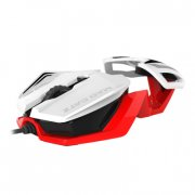 mad catz r.a.t.1 gamer / gaming mus - hvid / rød - Gaming