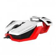 mad catz r.a.t.1 gamer / gaming mus - hvid / rød - Hardware Og Tilbehør