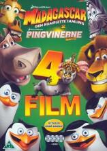 madagascar: den komplette samling + pingvinerne fra madagascar - DVD
