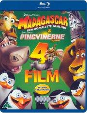 madagascar: den komplette samling + pingvinerne fra madagascar - Blu-Ray