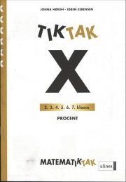 matematik-tak 6. kl. x-serien, procent - bog