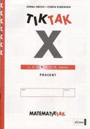 matematik-tak 7.kl. x-serien, procent - bog