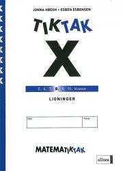 matematik-tak 8.kl. x-serien, ligninger - bog