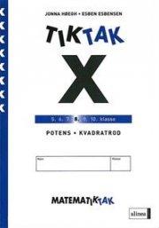 matematik-tak 8. kl. x-serien, potens, kvadrattal - bog