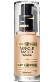 foundation - max factor miracle match foundation - light ivory - Makeup