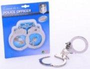politihåndjern / legetøjshåndjern - metal - Rolleleg