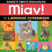 miav - 10 lærerige dyrebøger  - Barnets første bogsamling