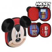 mickey mouse triple penalhus i rød  - Skole