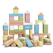 micki træ byggeklodser - 60 stk - Byg Og Konstruér